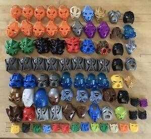 LARGE JOBLOT LEGO BIONICLE MASKS