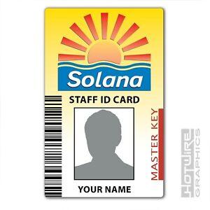 PERSONALISED Printed Novelty ID- BENIDORM TV Series Solana Hotel Pass Card