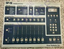 Brand New SP-12 Replacement Faceplate Overlay for E-mu SP12 - MINT and NEW!