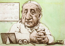 "Charles Bragg ""Brain Surgeon"" Signed Hand Colored Art Print free ship cont USA"