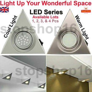 Triangle LED Light Kitchen Under Cabinet Cupboard Shelf Counter Lights Downlight