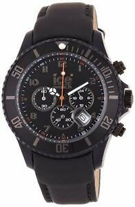 Ice Watch Men's CH.BK.B.L.11 Chronograph Matte Big Black Leather Watch
