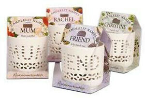 H&H Novelty Personalised Candlelit Names - Tea Light Holders - Choice of Names