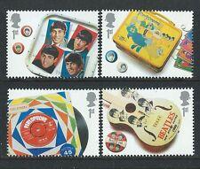 Gran Bretaña 2007 Beatles Set De 4 Ex. Hojita Bloque Menta desmontado, Mnh