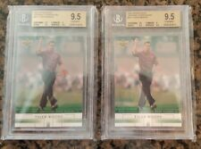 2 card Lot Tiger Woods N11 2002 National Convention Cards BGS 9.5 Gem Mint
