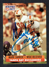 Mark Carrier #667 signed autograph auto 1991 Pro Set Football Trading Card