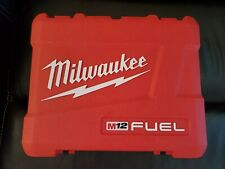 """Milwaukee M12 Fuel 2403-22 1/2"""" Hammer Drill / Driver Kit *CASE* (ONLY)"""
