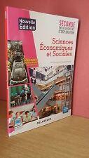 Pierrisnard SCIENCES ÉCONOMIQUES ET SOCIALES 2de Avec  corrigés Delagrave 2013