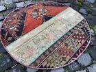 Circle Patchwork Carpet, Turkish rug, Vintage rug, Area rug | 2,6 ft