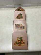 Vintage Metal Mail Sorter Letter Holder Antique Cars Office Wall Mount Hanging