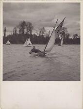 Régate Bateau à voile Sport Snapshot Photographie Vintage Algentique