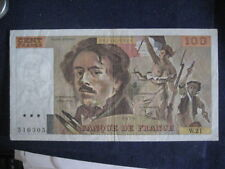 FRANCE 1968-81 ISSUE - 100 FRANCS - DELACROIX - DATED 1979, P154b - VF