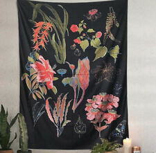 NEW Urban Outfitters Floral Wall Hanging Tapestry Botanical Chart