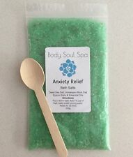 Anxiety Ease Aromatherapy Bath Salts ~ Dead Sea+Himalayan+Epsom+Essential Oils