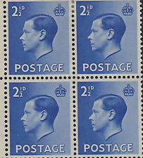 GREAT BRITAIN -  EDWARD VIII 1936 Control corner blocks of 6 for - 10290