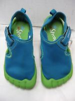 Speedo Toddler Water Shoes Size XL Blue Green #5 N