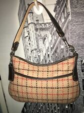 COACH #9614-Tattersall Plaid Wool Baguette (VCG)--Special Edition!