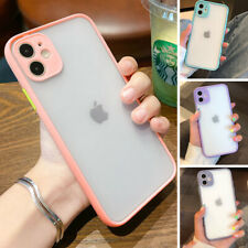 Clear Shockproof Hard Matte Case Cute Cover for Phone 11 Pro XS MAX XR 7 8 Plus