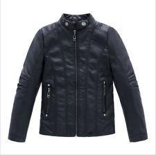 2020 New children's clothing boys spring PU leather jacket Motorcycle Coat