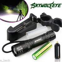 6000LM Tactical XM-L T6 LED Flashlight Zoom Torch+18650 Battery+Charger