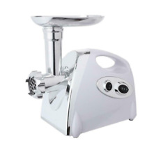 Commercial Electric Meat Grinder Sausage Maker Mincer Stuffer Handle White 2800W