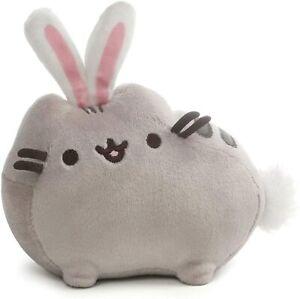 "GUND Pusheen Easter Bunny Stuffed Animal Plush Cat, Gray, 6"""