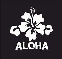 ALOHA  Hawiian, Flower, Surf Vinyl Decal Sticker EURO JDB DUB VW Funny Jap