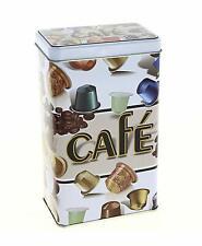 Chic Antique Blechdose mit Stülpdeckel schwarz Kaffeedose Vorratsdose