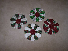 20 Christmas Dresden Plates-Quilt Blocks-Wonderful Holiday Fabric