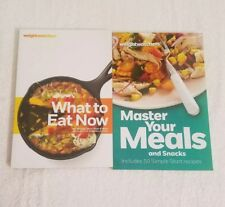 Lot of 2 Weight Watchers Cookbooks Master Your Meals and Snacks  What to Eat Now