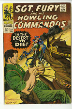Sgt Fury and His Howling Commandos #37 ORIGINAL Vintage 1966 Marvel