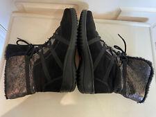 ARA Gore Tex Women Boots Black Metallic UK 5 US 7.5 Faux Fur