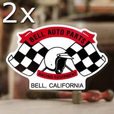 2x Piece Bell Auto Parts Decal Sticker autocollante Helmet Helmet Flags Race