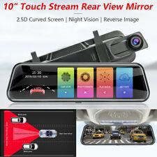 """Espejo de corriente de 10"""" coche DVR HD Lente Dual Dash Cámara Video Grabadora Visión Nocturna"""