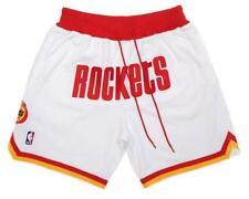 New Houston Rockets White Retro Men Basketball Shorts Size:S-XXL