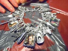 The Walking Dead Inspired Sterling Silver Charm Bracelet