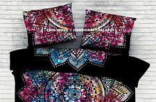Indian Cotton Mandala Black Pillow Cover Pillow Sham Ethnic Bed Decor Cushions