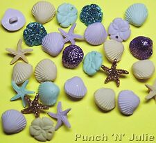 Tiny CONCHIGLIE DI MARE-sea shell spiaggia stella marina pesci Star dress It Up Bottoni Craft