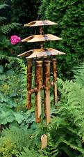 Klangspiel Bambus Pagode Windspiel Bambusdeko Fengshui Gartendeko Bambusmobile