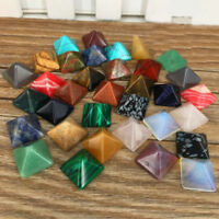 Set of 7 Chakra Pyramid Stone Set Crystal Healing - NATURAL Chakra Set
