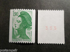 FRANCE 1986, timbre 2426a, type ROULETTE n° ROUGE LIBERTE, neuf**, VF MNH STAMP