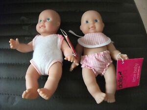 Dollsworld Little Baby 2 Set 6.5 Inch Dolls