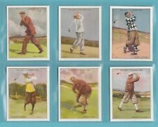 VICTORIA  GALLERY  -  L 24 / 25  WILLS  FAMOUS  GOLFERS  -  1987  ( REPRO'S )