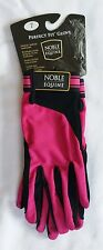 NWT Noble Equine Perfect Fit SureGrip Riding Gloves Womens 7 HOT PINK