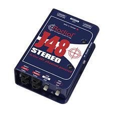 Radial Engineering J48 Stereo Phantom Powered Direct Box J-48 DI ~ MAKE OFFER!!