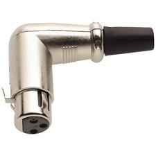 Fiche XLR 3 Broches Femelle Coudée 90° Capot Métal Connections à Souder