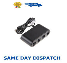 New GameCube Controller Adapter for Nintendo Switch Consoles - 4 Ports Black