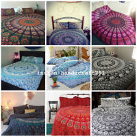 Indian Tapestry Bedding Bed Cover Hippie Bohemian Queen Size Bedspread Throw