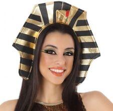 Coiffe de CLEOPATRE Noir Déguisement Femme Egyptienne Reine Egypte Cobra NEUF