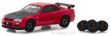 Greenlight Nissan Skyline GT-R R34 2002 with Spare Tires 97040 E 1/64